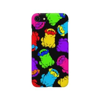 カラーパグ(大きめな柄) Smartphone cases