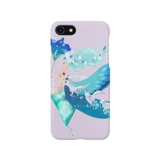 水の魔法(淡紫) Smartphone cases