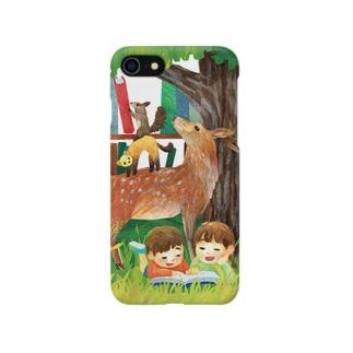 親鹿とクロテンとエゾリスのブレーメン Smartphone cases