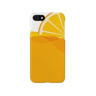オレンジジュース スマートフォンケース