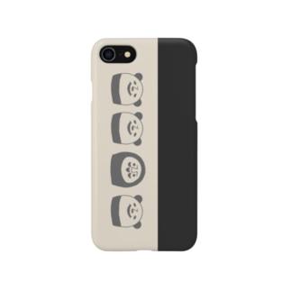 ぱんだるまん(モノトーン) 7用 Smartphone cases