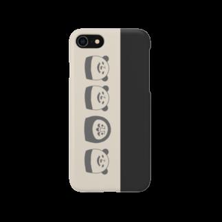sachomrockのぱんだるまん(モノトーン) 7用 Smartphone cases