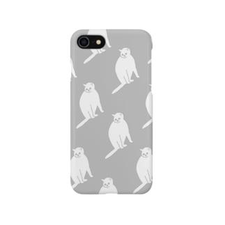気配(グレー) Smartphone cases