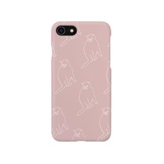 気配(ピンク) Smartphone cases