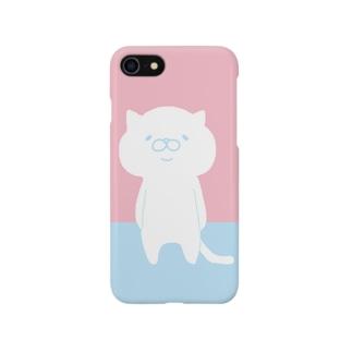 ツートンカラー(ピンク) Smartphone cases