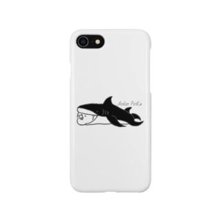 サメちゃんサザナミインコ Smartphone cases