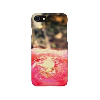 赤い花の器01 Smartphone cases