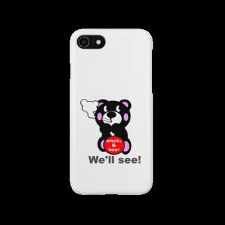 オリジナルデザインTシャツ SMOKIN'の一服モクモックマ  黒 オリジナルアイテム Smartphone cases