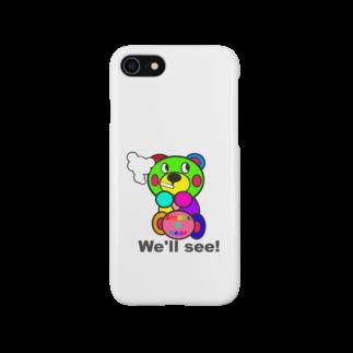 オリジナルデザインTシャツ SMOKIN'の一服モクモックマ  カラフル オリジナルアイテム  Smartphone cases