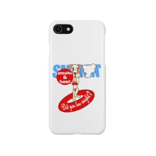 セクシーモクモックマinビーチ 白 Smartphone cases
