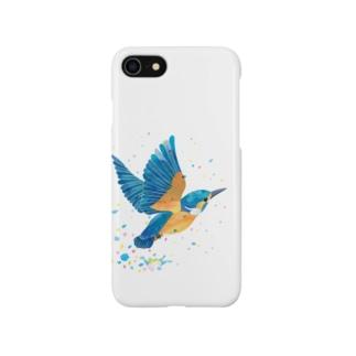 カワセミ飛沫 Smartphone cases