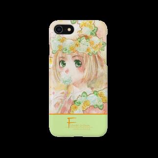 Pretty! showcase@SUZURI/まつもとめいこのはるかんむり(Flower crown) Smartphone cases