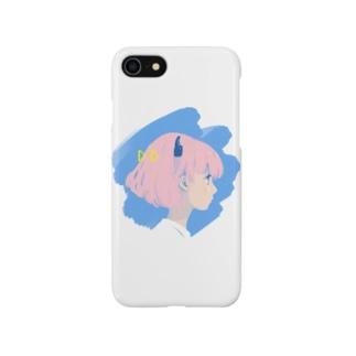 ミニマルポップガール Smartphone cases