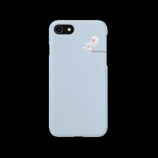 ビガクブの文鳥すさースマートフォンケース