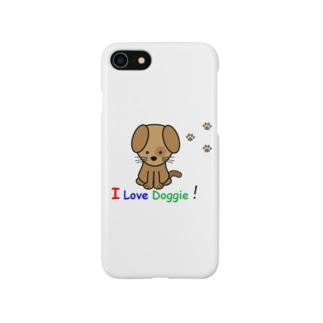 I live Doggieシリーズ Smartphone cases