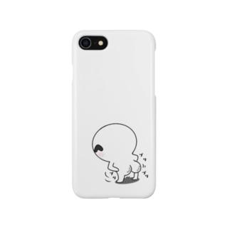 宇宙から来た白いやつスマートフォンケース(おしりver) Smartphone cases