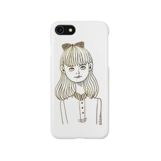 三白眼の女の子 Smartphone cases