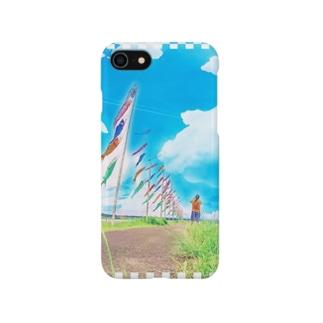恋のぼりスマホケースiphone7用 Smartphone cases
