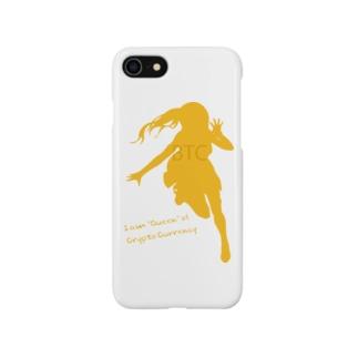 ビットコインちゃん シルエット Smartphone cases