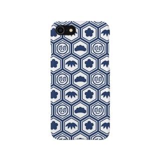 松竹梅ののちゃん!ブルー Smartphone cases