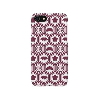 松竹梅ののちゃん!レッド Smartphone cases