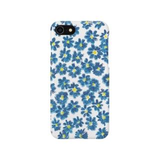 青い花! スマートフォンケース