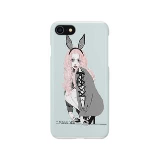 さみしがり屋のウサギちゃん Smartphone cases
