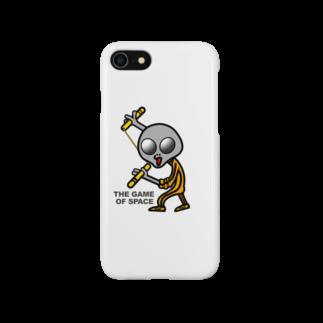 オリジナルデザインTシャツ SMOKIN'の宇宙遊戯 ヌンチャクポーズ Smartphone cases