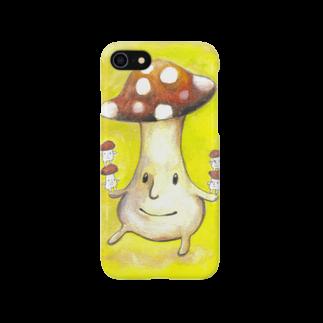 波田野剛望(はたのたけみ)の手乗りキノコ Smartphone cases