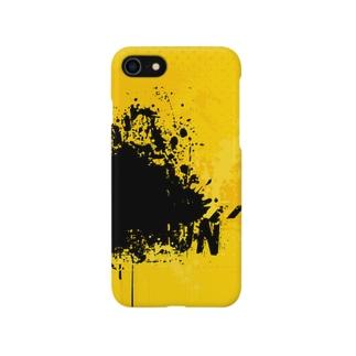 黒黄ペンキくん Smartphone cases
