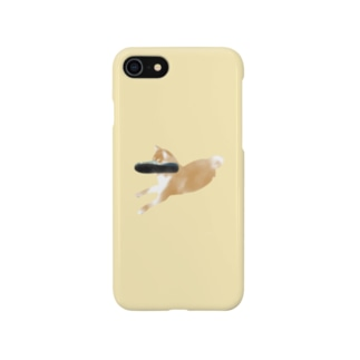 スリッパの中に夢を見る犬 スマートフォンケース