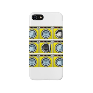 コインランドリー Coin laundry【3×3】 Smartphone cases