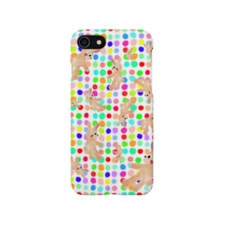 しがみウサギ:RAINBOW【ゆめかわアニマル】 Smartphone cases