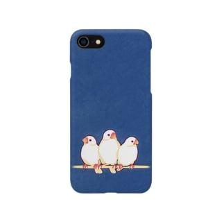 愛鳥週間(白文鳥) スマートフォンケース