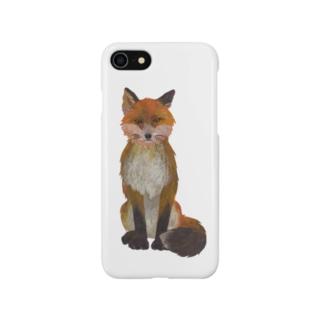 ふさ尾っぽキタキツネ Smartphone cases