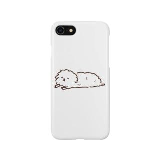 ずっと寝てる犬 スマートフォンケース