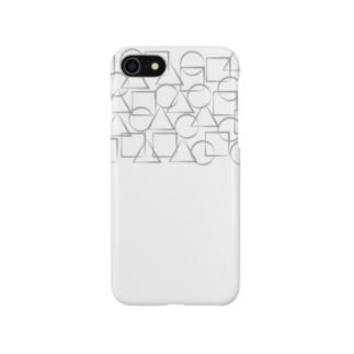 ○△□シルバー Smartphone cases