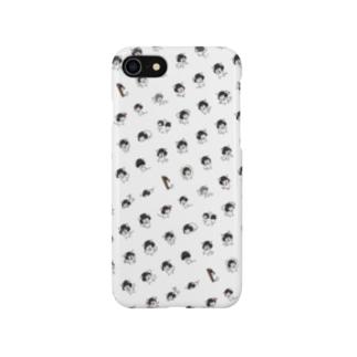 おかっぱ猫ぶんちゃん(集合) Smartphone cases