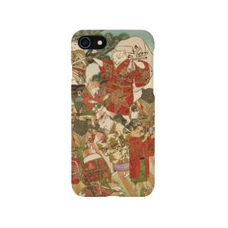 猫浮世絵シリーズ クリスマス めいきんぐおぶおでんツリーWith サンタ Smartphone cases