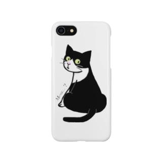 ふりむきにゃんこ Smartphone cases