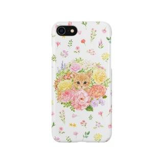 ねことリース Smartphone cases