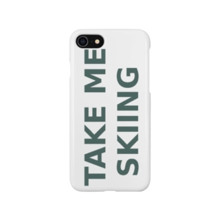 TAKE ME SKIING green Smartphone cases