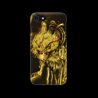 ビューティフルハードコアイラストレーション-DESIGN STOREの孫悟空-ゴールデンエイジ (Son Goku Golden Age) Smartphone cases
