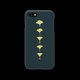 kushirookayuの銀杏とカクテル Smartphone cases