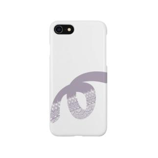 ゼンタングルLoop(淡い藤色)  Smartphone cases