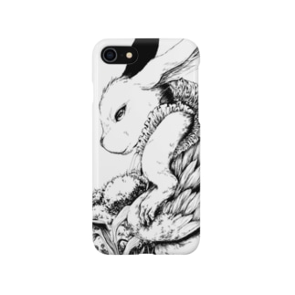 うさぎの幻獣のペン画 Smartphone cases