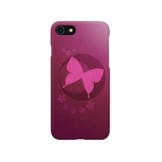 赤|蝶月 Smartphone cases