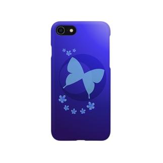 青|蝶月  Smartphone cases
