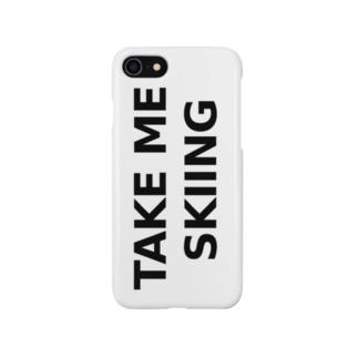 TAKE ME SKIING black Smartphone cases