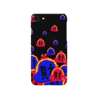 財(黒) Smartphone cases